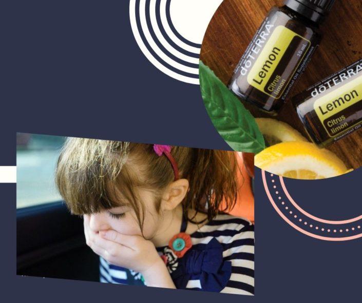 rău de mașină ameliorat semnificativ cu ulei de lămâie Doterra